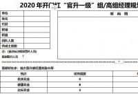 2020年开门红官升一级组经理高级组经理规划面谈表B版2页.docx