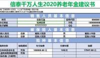 信泰千万人生2020养老年金自动计划书速查表.xlsx
