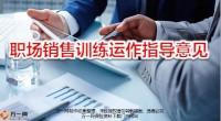 职场销售训练运作指导意见31页.pptx