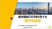 新华保险2020年6月十大医疗险赔案13页.ppt