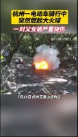 视频杭州一电动车突然起火爆炸父女严重烧伤已下发三次病危通知.zip