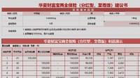 华夏财富宝两全保险分红型至尊版自动计划书.xlsx