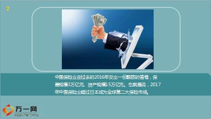 2017年中国成全球第二大保险市场11页.ppt